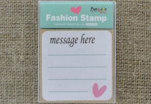 [73515] Stempel kwadratowy message here 45*45mm