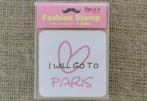 [73514] Stempel kwadrat I WILL GO TO PARIS 45*45mm