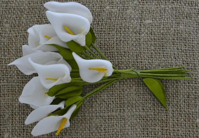 050120 Kwiatki Sztuczne Kalie 3018mm Białe 2szt Passionroompl